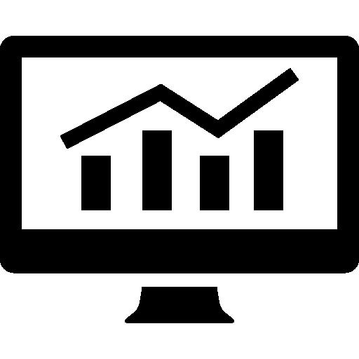 analytics graphic on screen