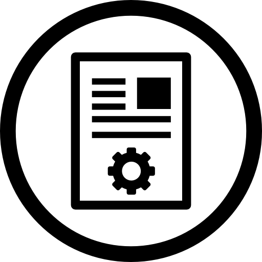 article marketing circular symbol